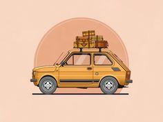 Fiat 126 by Christopher Hebert https://dribbble.com/shots/1855688-Fiat-126?list=buckets&offset=6