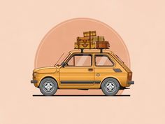 Fiat 126 by Christopher Hebert https://dribbble.com/shots/1855688-Fiat-126?list=buckets&offset=6