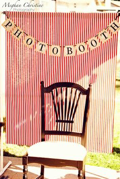 Photo booth idea, love this!