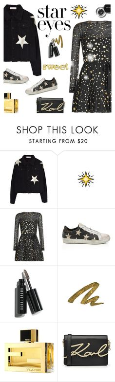 """""""Twinkle, Twinkle: Star Outfits"""" by lacas ❤ liked on Polyvore featuring RED Valentino, Bobbi Brown Cosmetics, Urban Decay, Fendi, Karl Lagerfeld, Jennifer Meyer Jewelry and StarOutfits"""