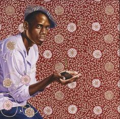 Kehinde Wiley...has been selected by Pres. Obamba for  National Gallery portrait