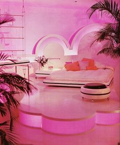 Pink! I so want my bedroom to be just like this one!