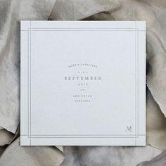 Square invitation + thin cross border