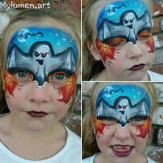 FP: mask: Halloween: ghost Face Painting Halloween Kids, Up Halloween, Halloween Design, Painting For Kids, Halloween Makeup, Ghost Faces, Scary Faces, Face Painting Designs, Body Painting