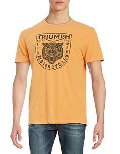 Lucky Brand Triumph Tee Men's Orange Large