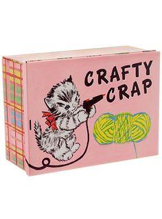 Crafty Crap Large Treasure Tin at PLASTICLAND