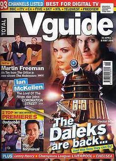 Total tv guide 30 apr 2005 . #doctor who dalek front #cover . not #radio times,  View more on the LINK: http://www.zeppy.io/product/gb/2/231961264015/