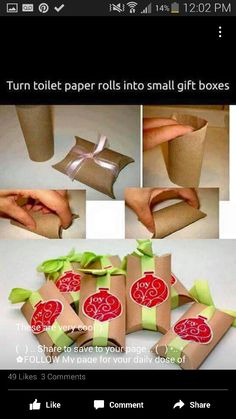 Toilet paper roll gift boxes