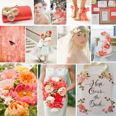 Coral spring wedding inspiration