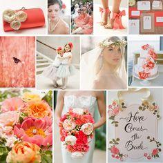 Coral spring wedding inspiration