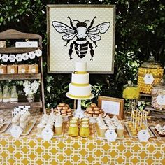 """Hard to believe it's been almost six years since we threw this Bee-themed party for our """"Baby B's"""" first birthday. My talented friend @bloomdesignsonline turns every party into a special memory. Follow her for more awesome #partyideas"""