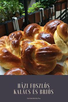 Foszlós kalács és briós készítése – Tortaiskola Plaited Bread Recipe, Bread Recipes, Cooking Recipes, Ring Cake, Hungarian Recipes, Hungarian Food, Dry Yeast, No Bake Desserts, Coffee Cake