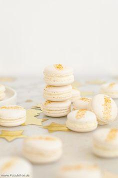 Leckere Macarons mit Cranberrie-Gelee und Frischkäsecreme, Macarons backen, Silvester Menü