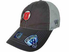 Utah Utes TOW Gray Putty Two Tone Mesh One Fit Flexfit Hat Cap