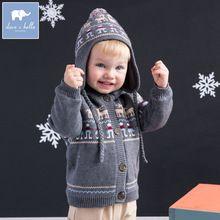 Brand90%Cotton 10%Wool christmas boy moose sweater children baby boy clothes toddler child baby boy fleece knitting coat jacket(China (Mainland))