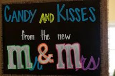 Cute candy bar sign