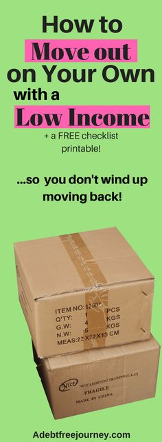 Moving out on your own is an exciting experience, but when you lack a plan things can go downhill. This is such a helpful post for those wanting to move out on their own for the first time on a low income. Free checklist included.