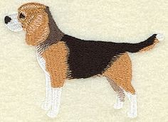 Beagle - 4x4 | Tags | Machine Embroidery Designs | SWAKembroidery.com Starbird Stock Designs