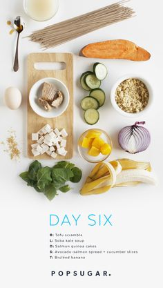 Start day six of our 2-Week Clean-Eating plan with a tasty tofu scramble and a warming bowl of soba noodle soup for lunch.