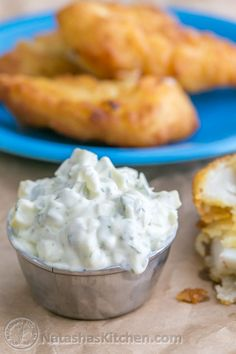 Making your tartar sauce own is really easy. It's amazing for fish sticks or breaded fish fillets. This recipe stays fresh in the fridge for a few days.