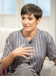 Frankie Bridge thrilled Mollie King is doing Strictly Pixie Hairstyles, Pixie Haircut, Short Hairstyles For Women, Crazy Hairstyles, Brunette Pixie Cut, Brunette To Blonde, Short Pixie, Short Hair Cuts, Short Hair Styles