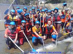 wisata arung jeram sungai cisadane bogor bank mandiri syariah Bogor, Paintball, Team Building, Rafting, Archery, Trekking, Offroad, Bow Arrows, Hiking