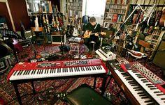 Future music studio.