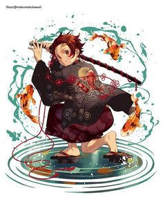 Kimetsu no Yaiba, Blade of Demon Destruction, Demon Slayer: Kimetsu no Yaiba The Best Anime Art Manga Anime, Manga Boy, Anime Demon, Otaku Anime, Anime Art, Demon Slayer, Slayer Anime, Devilman Crybaby, Dragon Tales
