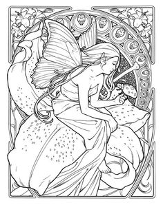 art deco coloring book - Google Search | Coloring4Adults | Pinterest ...