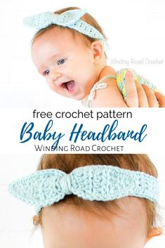 Casual Cotton Headband Free Crochet Pattern - Winding Road Crochet I have been wearing my Casual Cotton Headband everyday since I first made it. It is the perfect way to dress up a tank top, jeans, and a top knot. Baby Girl Crochet, Crochet Baby Hats, Knit Crochet, Cotton Crochet, Crochet Headband Free, Knitted Headband, Headband Bebe, Flower Headbands, Crochet Bow Pattern