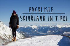 Packliste für den Skiurlaub - mit speziellen Tipps für Tirol (Notfallnummern, Apps, etc.)