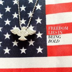 """""""Freedom lies in being bold."""" Happy #NationalCoastGuardDay! #alexwoo #littleicons #eagle #freedom"""