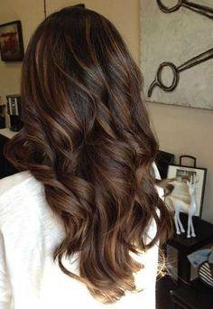 9.Long Dark Brown Hair More