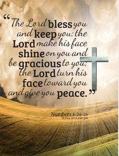 Numbers 6:24-26 Happy New Year blessings to all †