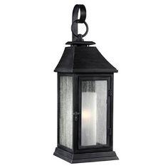 Elstead Lighting Wrought Iron 1 Light Outdoor Wall lantern & Reviews   Wayfair.co.uk