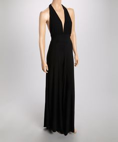 Take a look at the Black Halter Jumpsuit on #zulily today!