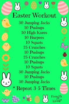 Image result for easter workout