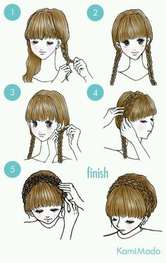 These cute hairstyles are so simple to do and can be done in just minutes! Not everyone has a lot of time these days. So easy hairstyles are the way forward. hairstyles 65 Easy And Cute Hairstyles That Can Be Done In Just A Few Minutes Natural Bun Hairstyles, Lil Girl Hairstyles, Cute Simple Hairstyles, Wedge Hairstyles, Afro Hairstyles, Updos Hairstyle, Wedding Hairstyles, Brunette Hairstyles, Beehive Hairstyle