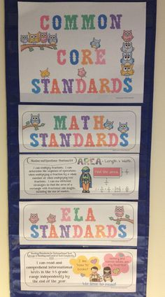 "Pocket chart for my Common Core Standards ""I can.."" Posters!   Jason's Online Classroom has Common Core Posters for Grades K-5! Check them out $$: http://www.teacherspayteachers.com/Product/Common-Core-Standards-I-Can-Statements-Posters-Math-ELA-Bundle-Kinder-700371"