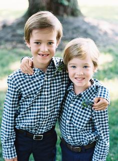 matching ring bearer shirts - photo by Austin Gros http://ruffledblog.com/intimate-garden-wedding-in-indiana