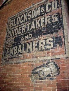 Old brick wall advertisements:                                                                                                                                                                                 More