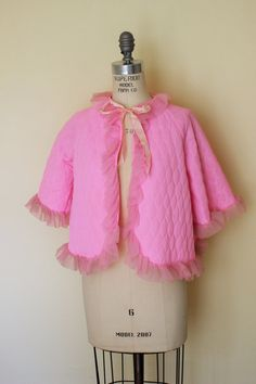 Hey, I found this really awesome Etsy listing at https://www.etsy.com/listing/233204496/vintage-1960s-pink-bed-jacket-60s
