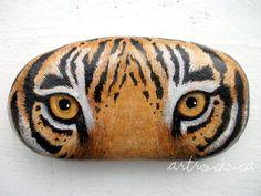 Tiger Eyes Inspired Stone | by ArtRocks by Karen