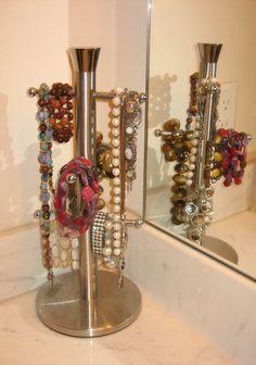 mug rack for necklaces