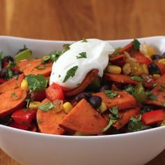 Sweet Potato And Black Bean Stir Fry