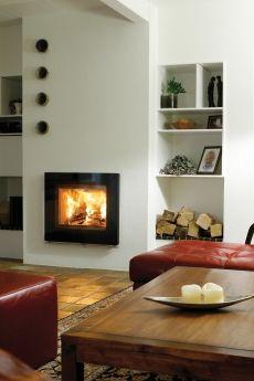 Lotus H570 Insert Stove, Stove Fireplace, Wood Burning, Modern, Stoves, Showroom, Lotus, Van, Home Decor