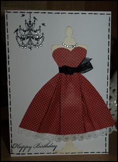 http://lilackittycreations.blogspot.co.uk/ use heart punch for the top of dress                                                                                                                                                                                 More