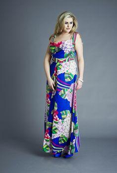 b8bf56fb028 Blue Hydrangea Double Silk Cowl Maxi Dress. Clothing SitesSize ClothingPlus  ...