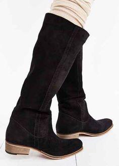 Seychelles Secretive Western WOMENS Tall Suede Boots Black US*7  NWOB Orig $190  #Seychelles #CowboyWestern