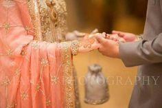 Groom bride hands